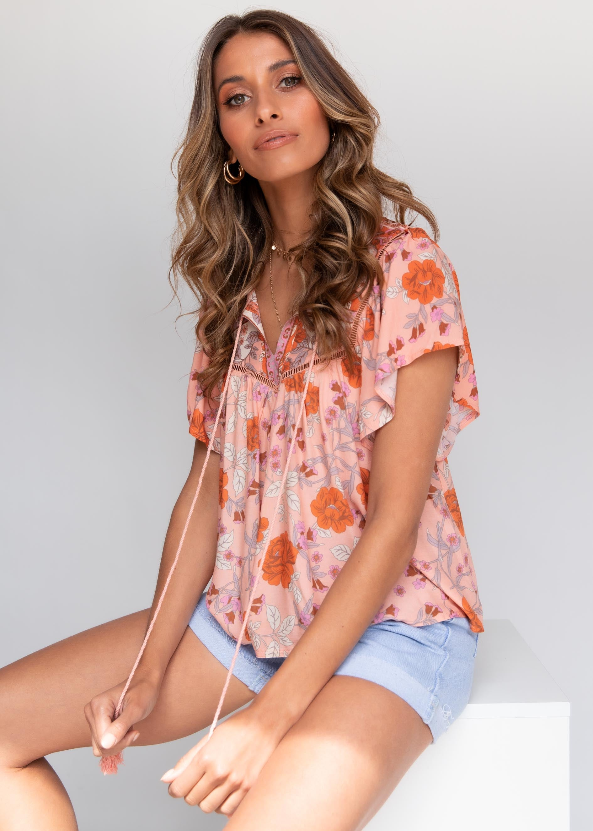 Surrender Blouse - Peach Blossom