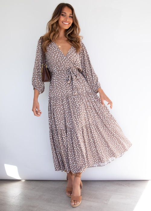 Cleobella Maxi Dress - Mocha Speck