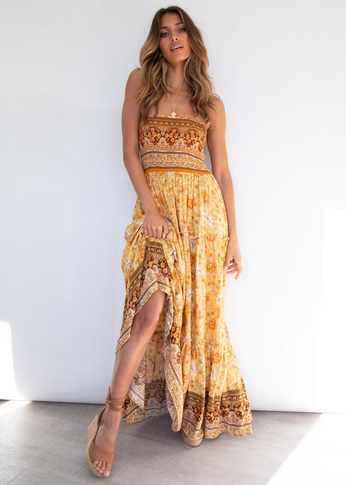 Claudia Maxi Dress - Golden Horizon