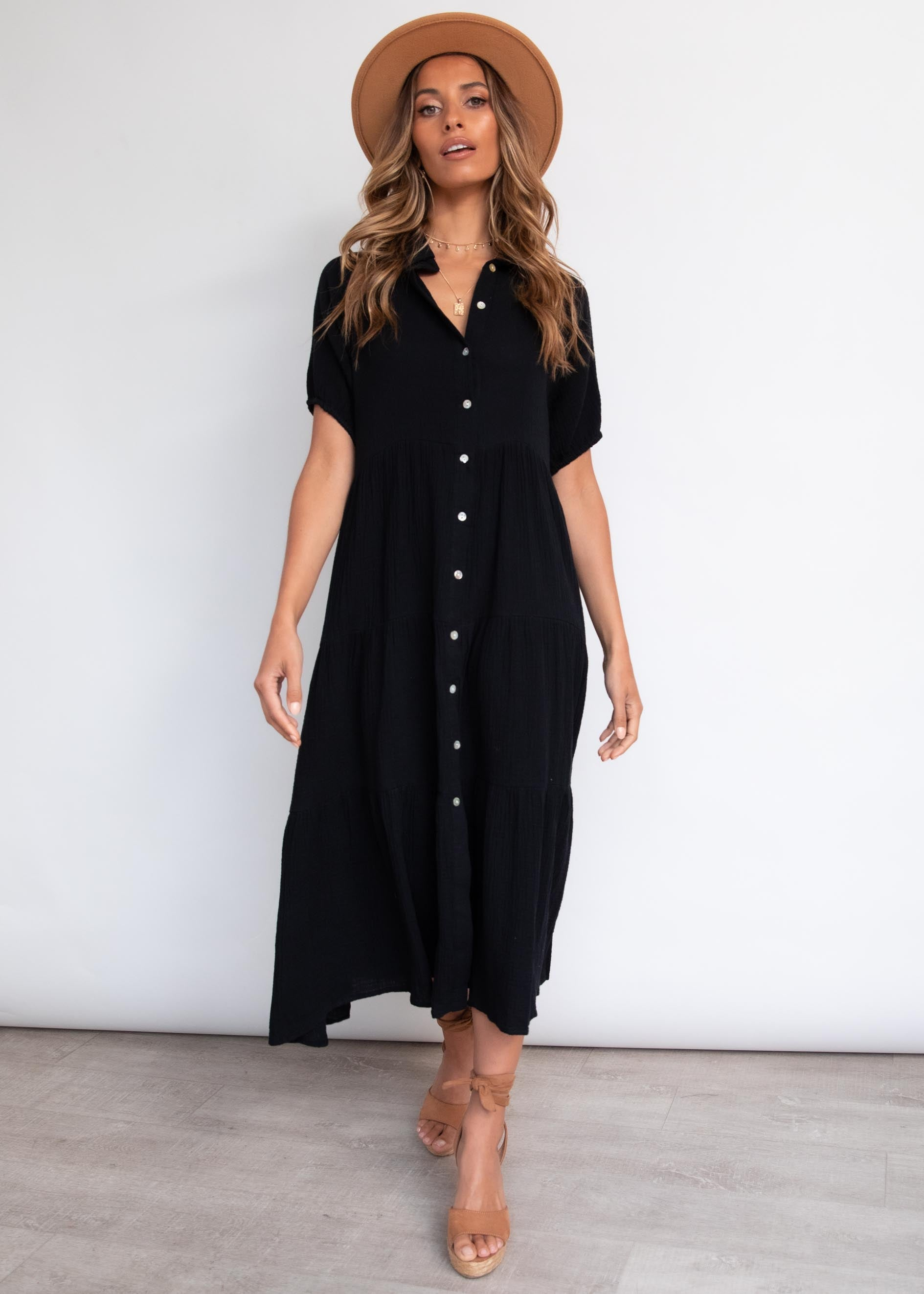 Jezebel Midi Dress - Black