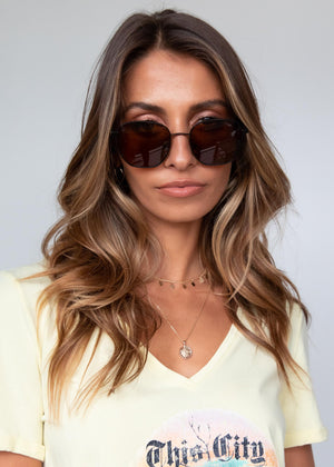 Cailin Sunglasses - Black/Brown