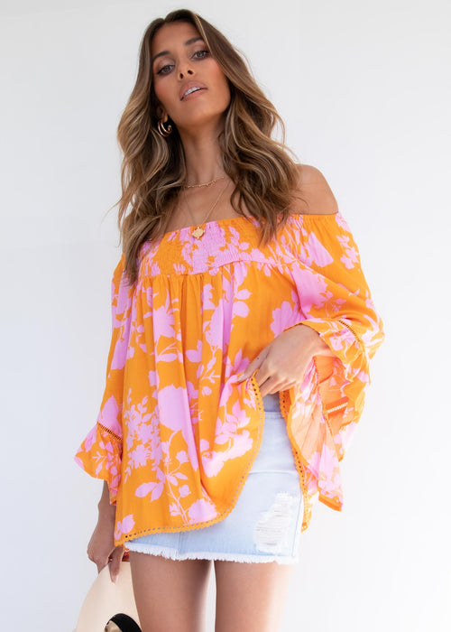Sugar Night Off Shoulder Top - Angelica