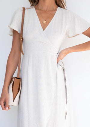 Essence Wrap Dress - Natural
