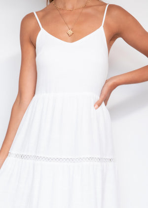 Nerissa Midi Dress - Off White