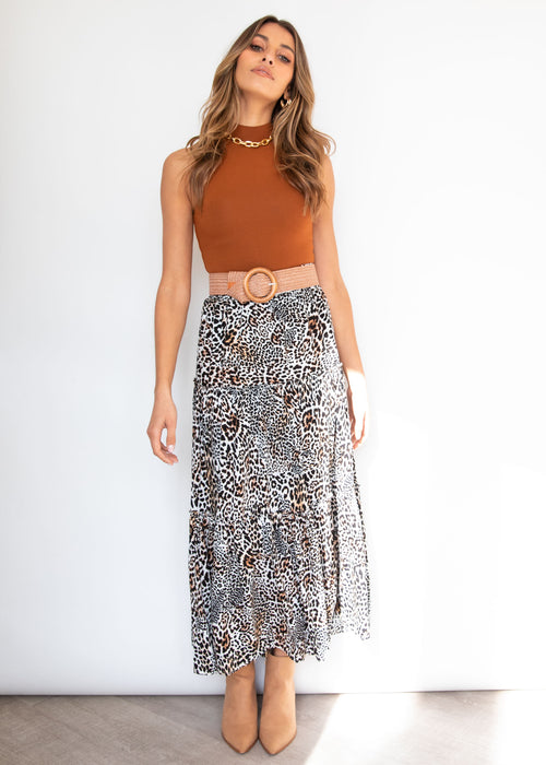 Jagger Maxi Skirt - Safari