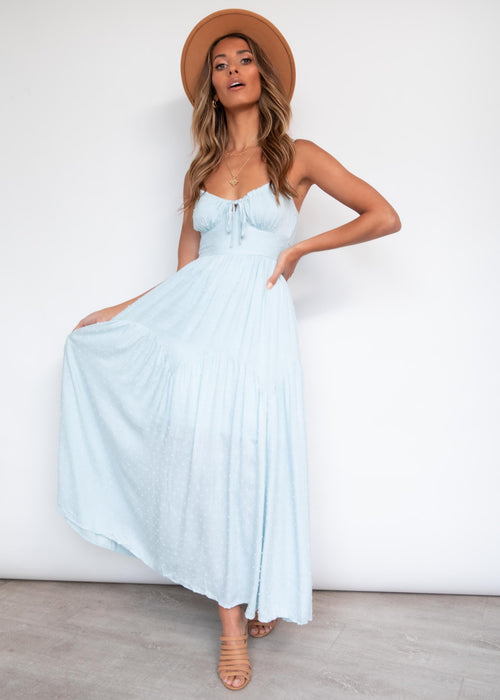 Whole Hearted Maxi Dress - Powder Blue