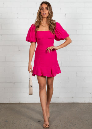 Bittersweet Mini Dress - Magenta