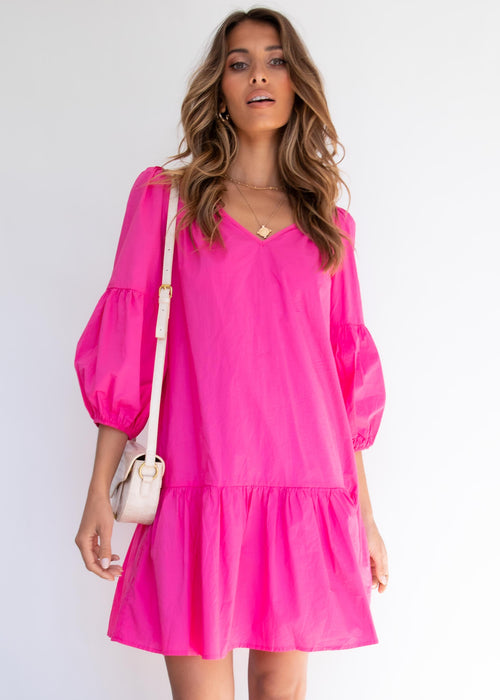 Anouk Dress - Magenta