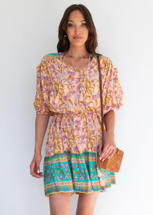 Vinnie Dress - Peach Oasis