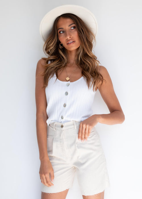 Alaina Knit Top - White