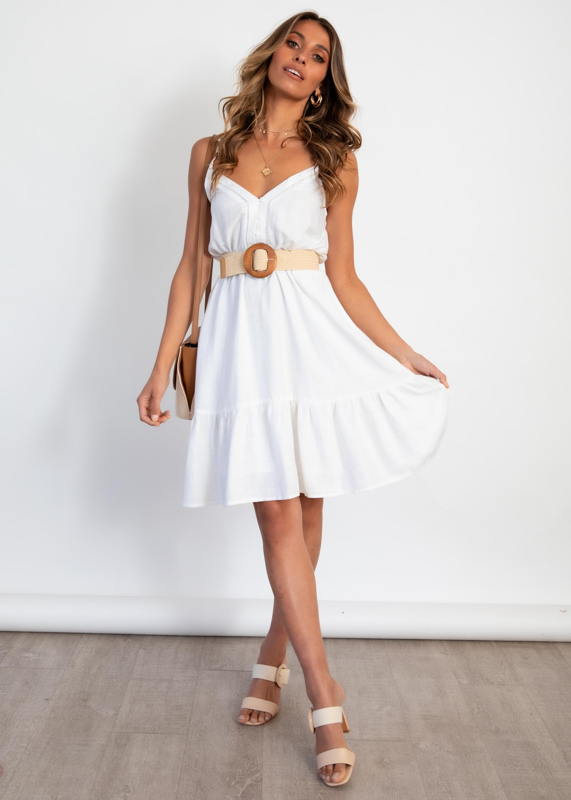 Ziah Mini Dress - Off White