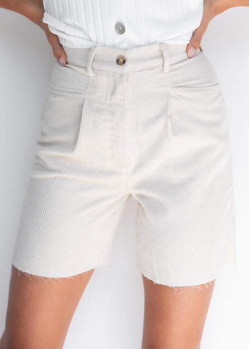 Harvee Cord Shorts - Beige