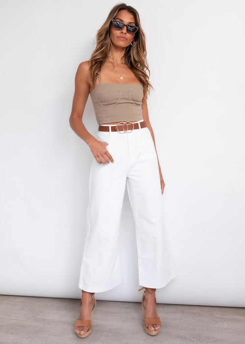 Mandy WIde Leg Jeans - White