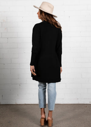 Raphy Knit Cardigan - Black