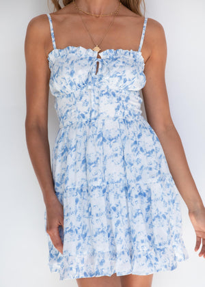 French Kiss Dress - Blue Sky