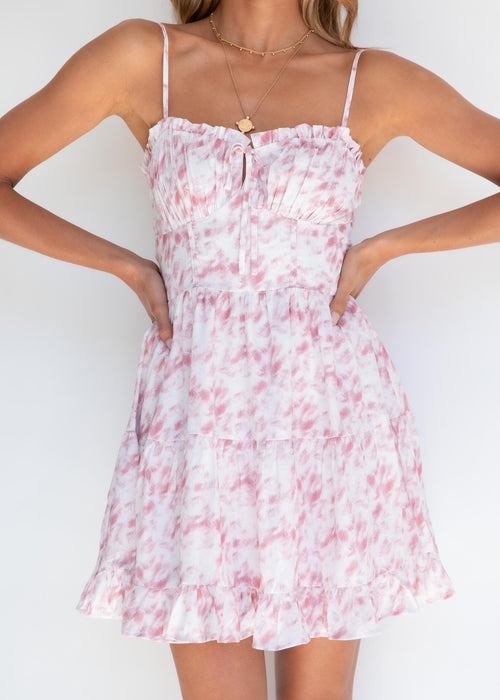 French Kiss Dress - Pink Sky