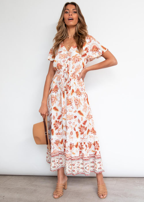 Kazane Maxi Dress - Autumn Floral