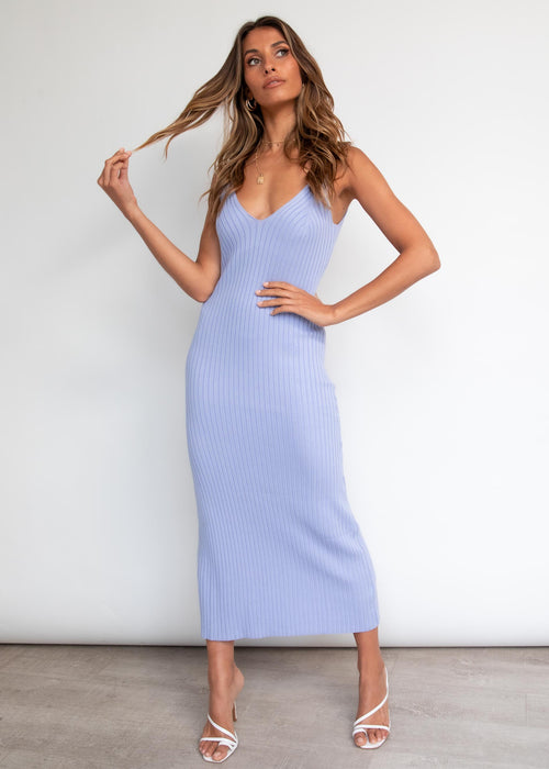 Piper Knit Midi Dress - Lilac
