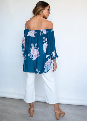 Shreya Off The Shoulder Blouse - Night Garden