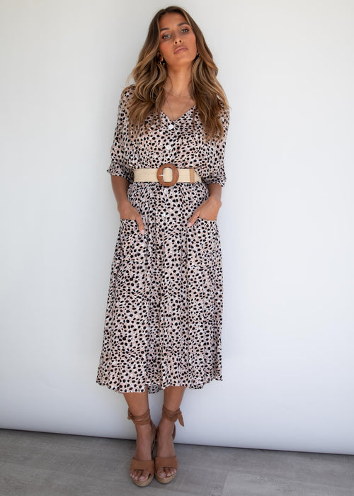 Infatuation Midi Dress - Leopard