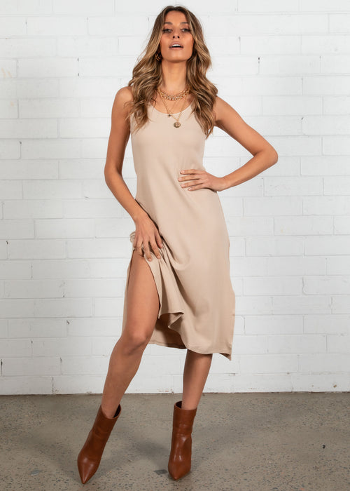 Renia Swing Dress - Beige