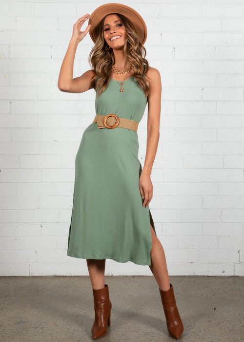 Renia Swing Dress - Sage