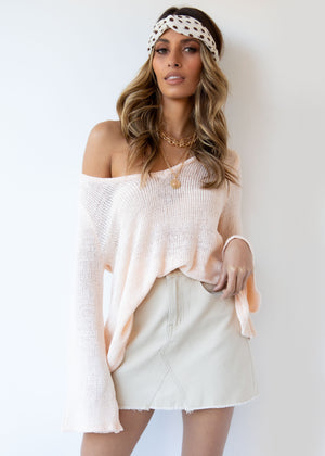 Esko Knit Top - Peach