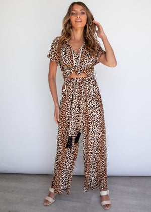 Carry On Pants - Leopard