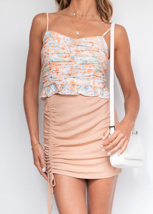 Cassia Crop - Orange Floral