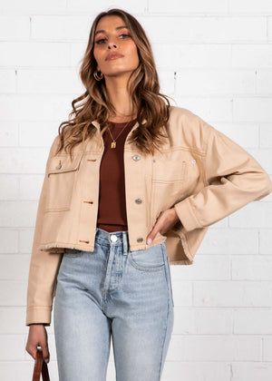 Bradshaw Denim Jacket - Beige