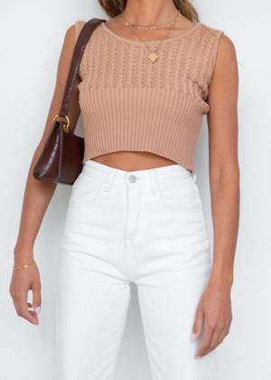 Clara Knit Top - Camel