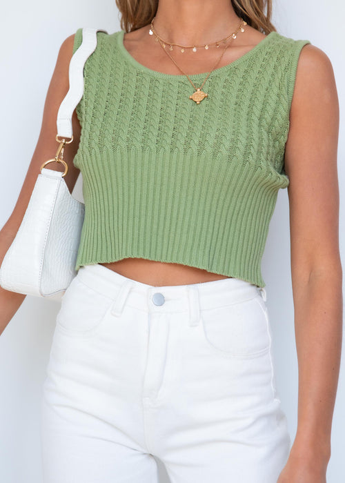 Clara Knit Top - Khaki