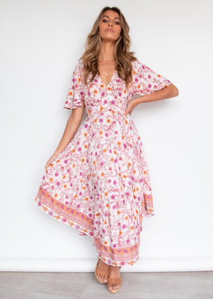 Luma Maxi Dress - Blush Floral