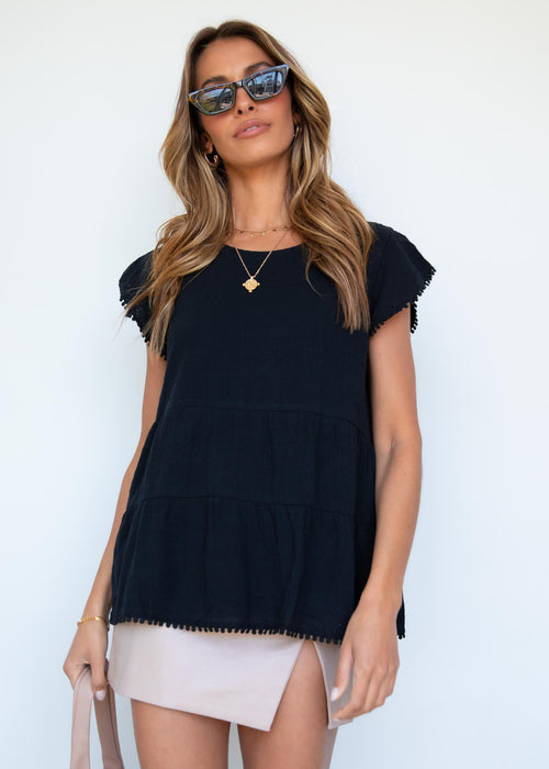 Makena Tier Top - Black