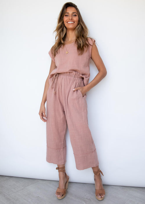 Drifters Pant - Dusty Blush