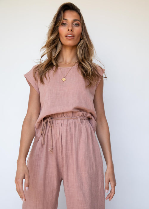 Drifters Top - Dusty Blush