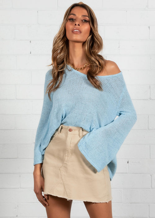 Esko Knit Top - Blue