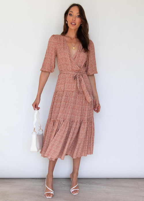 Lavidia Midi Dress - Rust