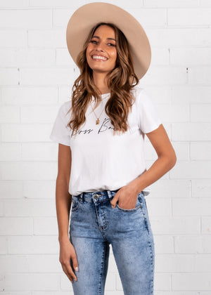 Boss Babe Tee - Off White