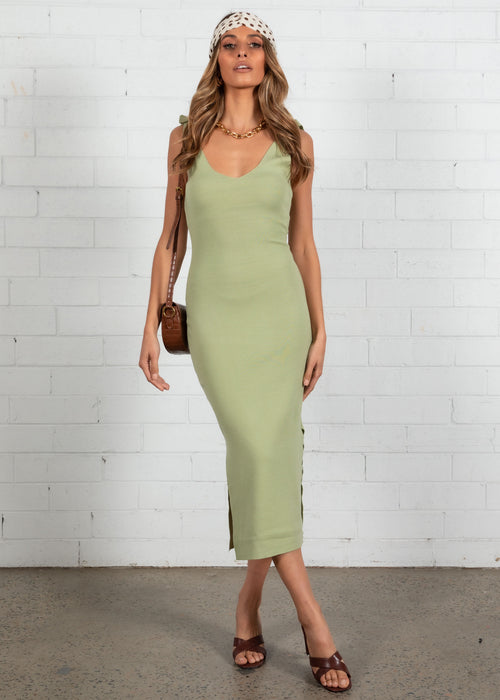 Lover Lover Knit Midi Dress - Mint