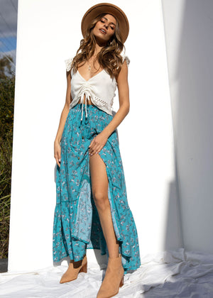 Daphne Maxi Skirt - Ocean Eyes