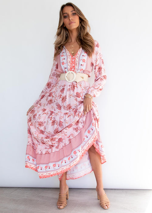 Camille Maxi Dress - Pink Paisley