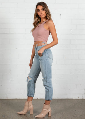 High Tides Crop - Blush