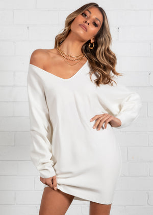 Ismene Sweater Knit Dress - Off White