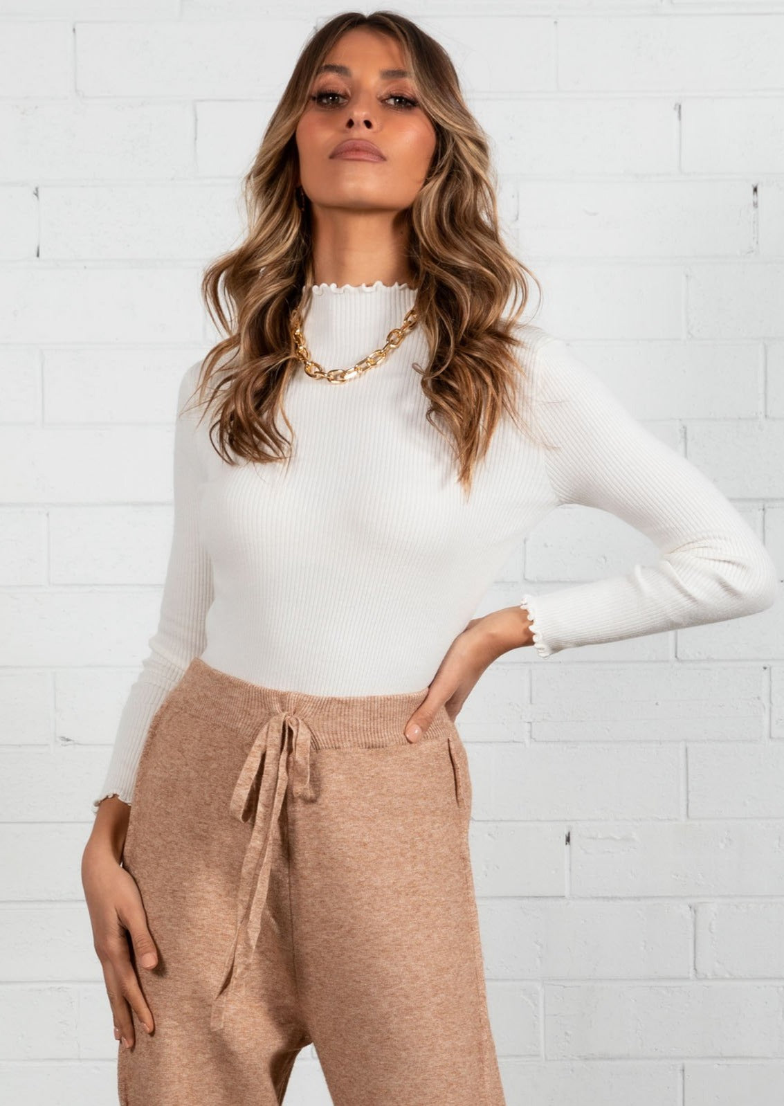 Hayley Knit Top - Ivory
