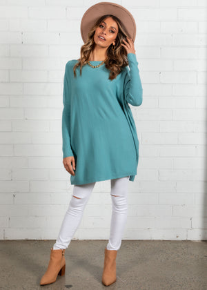 Unwind Lightweight Sweater - Teal