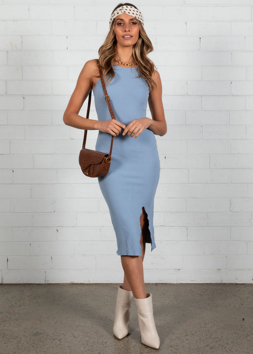 Takes Two Midi Dress - Blue
