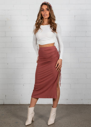 Harna Midi Skirt - Mulberry