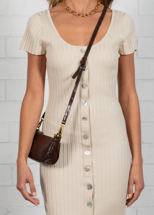 Take It Back Midi Dress - Beige