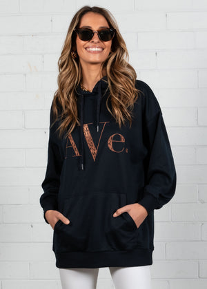 Ave Hoodie Sweater - Navy